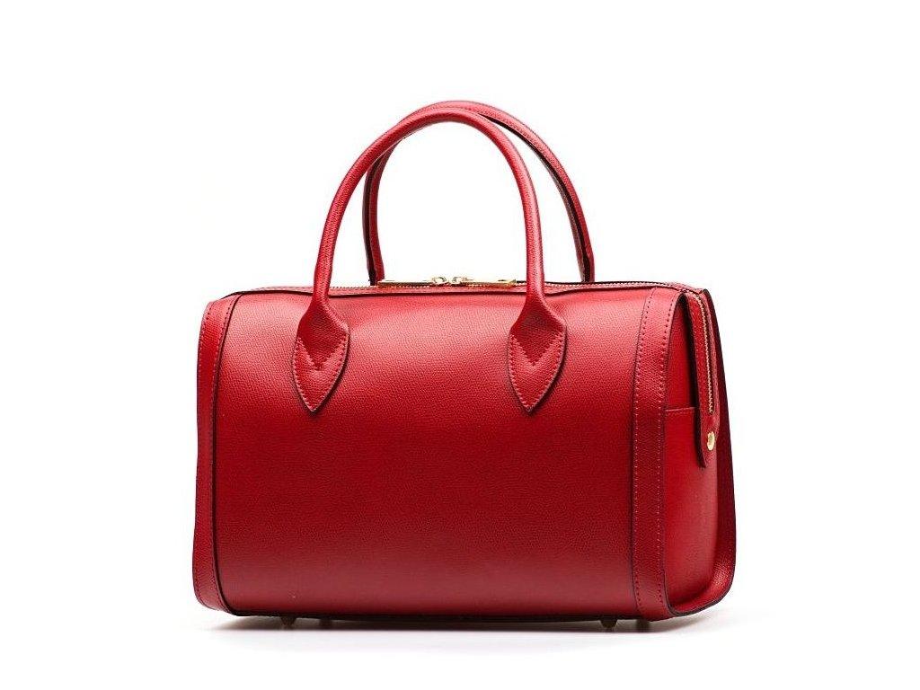 Kožená kabelka Babila červená