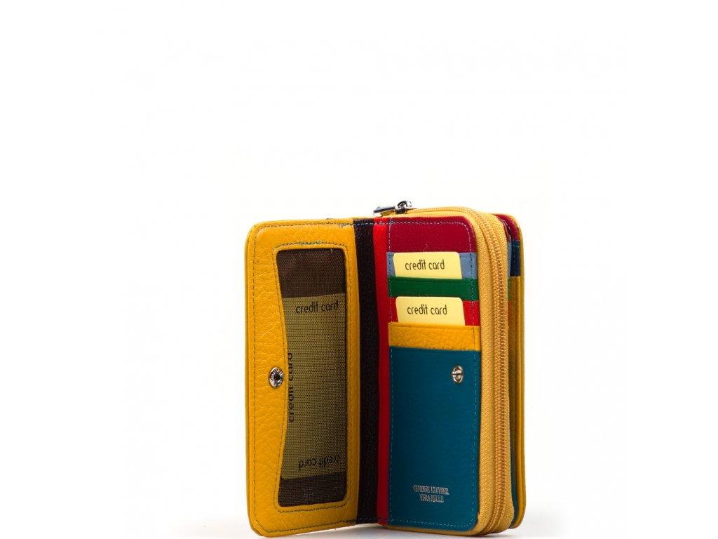 Kožená peněženka Juta hořčicově žlutá