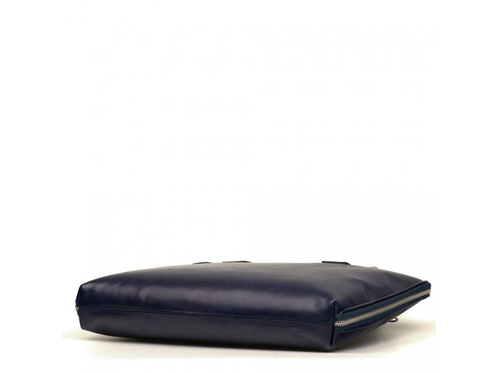 63b0d7f9f8 Kožená taška na notebook Esme modrá - Blaire shop
