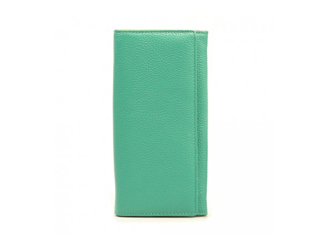 Kožená peněženka Karin tyrkysově modrá
