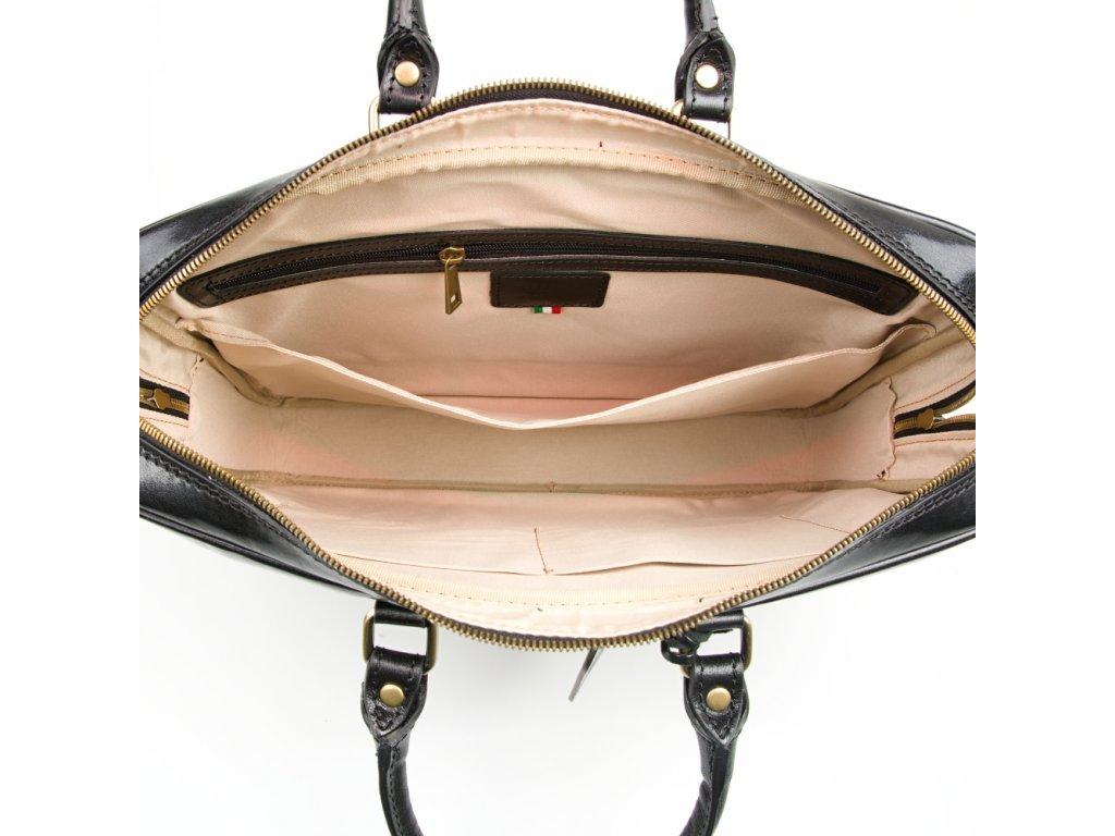 Kožená pracovní taška Gavin černá