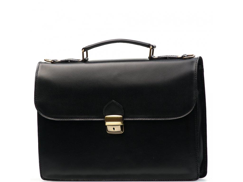 Kožená pracovní taška Nica černá