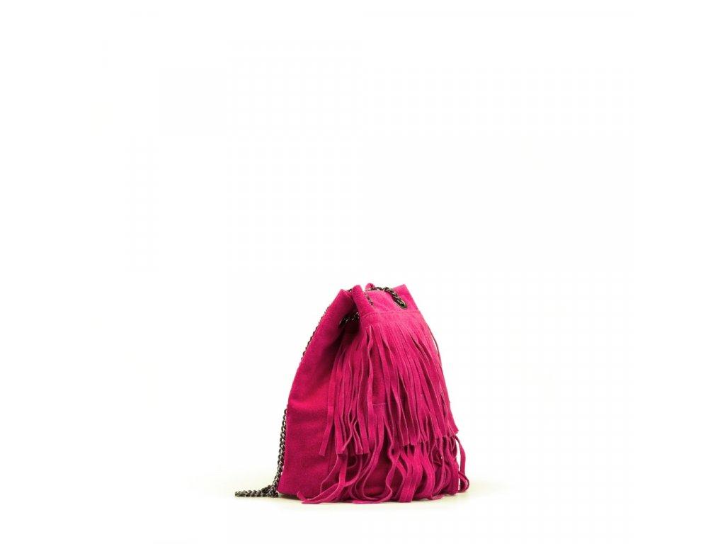 Kožená kabelka Naima fuchsiová - Blaire shop 577b82bb1a