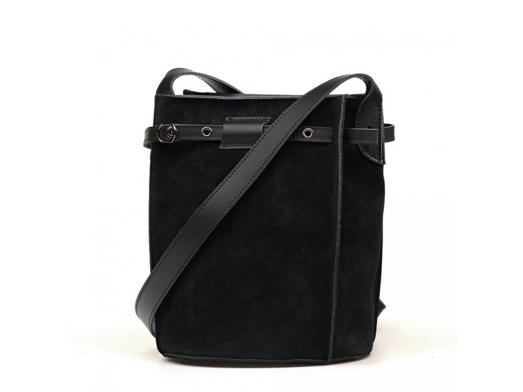 Kožená crossbody kabelka Roxy černá