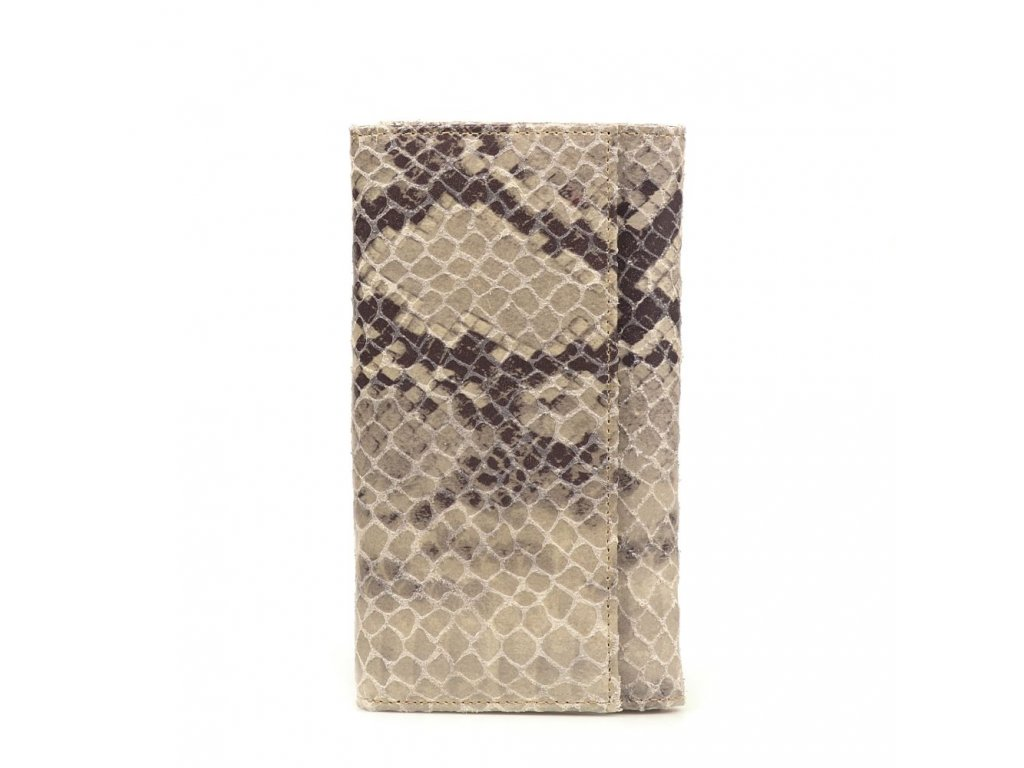 Dámská kožená peněženka Rosine šedo - béžová