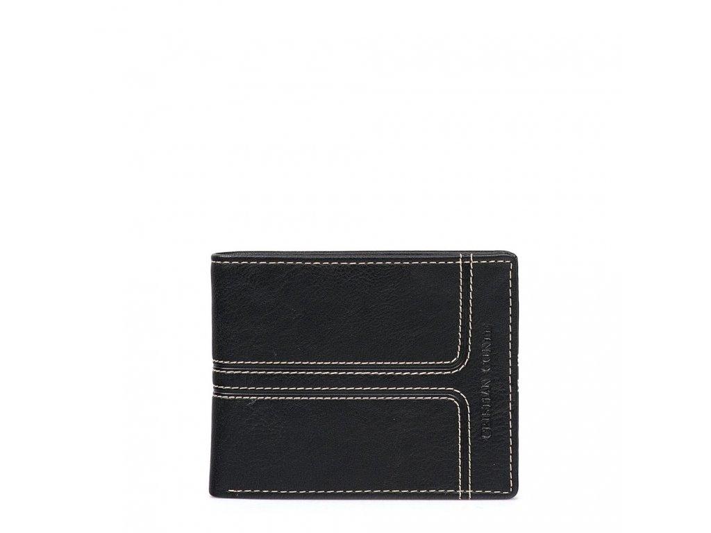 Pánská kožená peněženka Conte černá