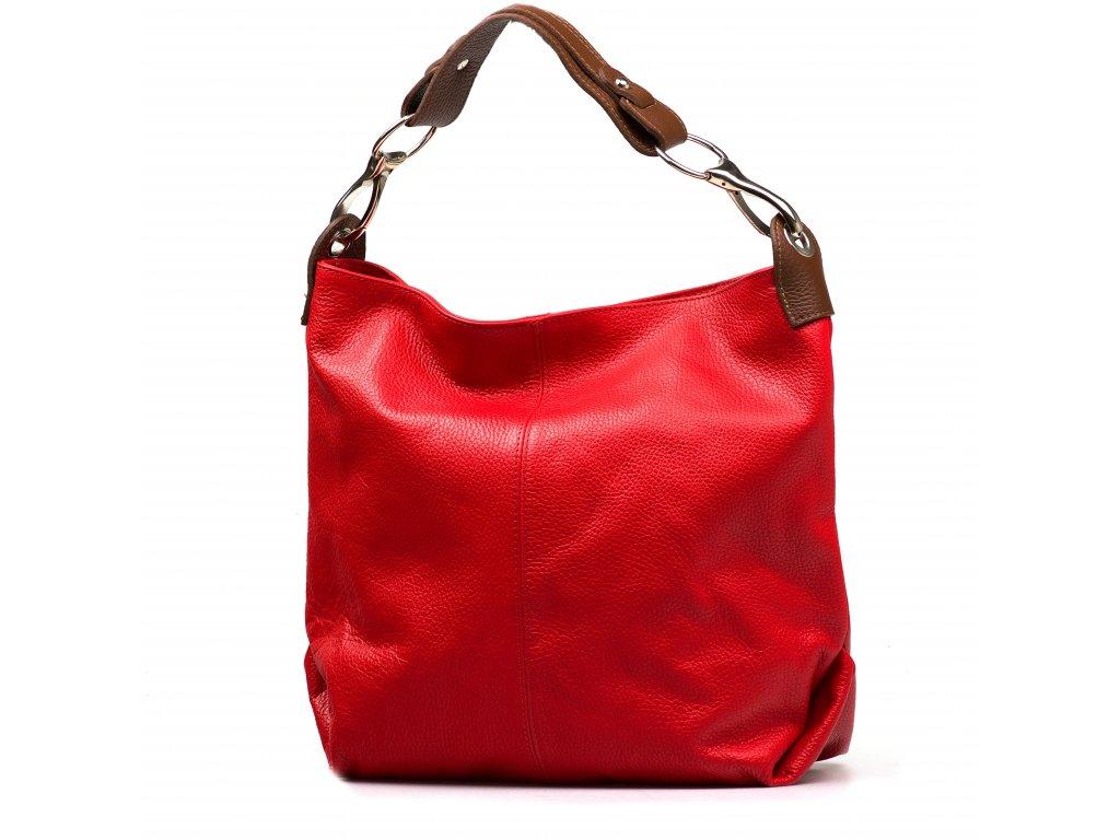 Kožená kabelka Cira červená