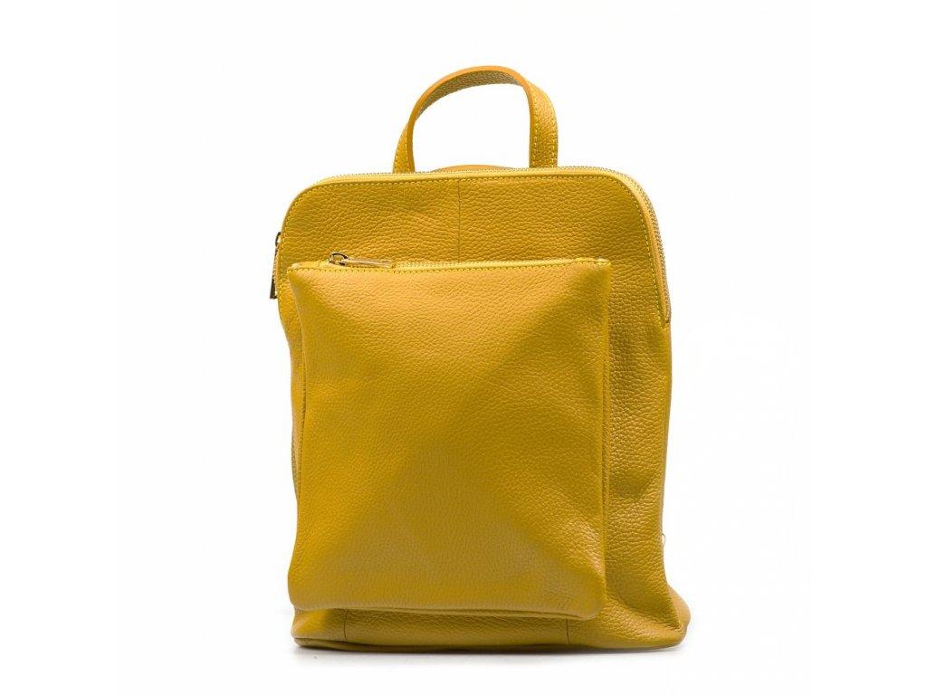 Kožený batůžek Tabby hořčicově žlutý