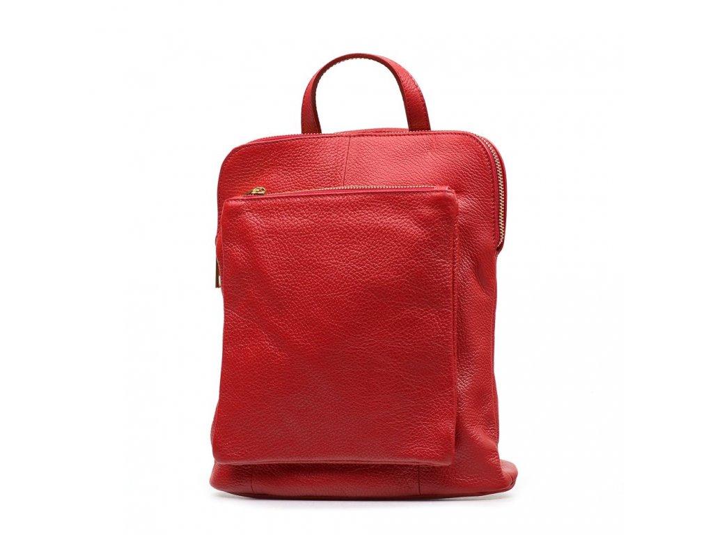Kožený batůžek Tabby červený