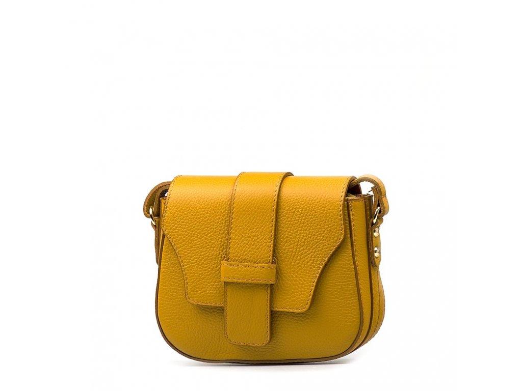 Kožená crossbody kabelka Arden hořčicově žlutá