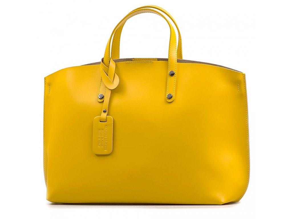 Kožená kabelka Alissa žlutá