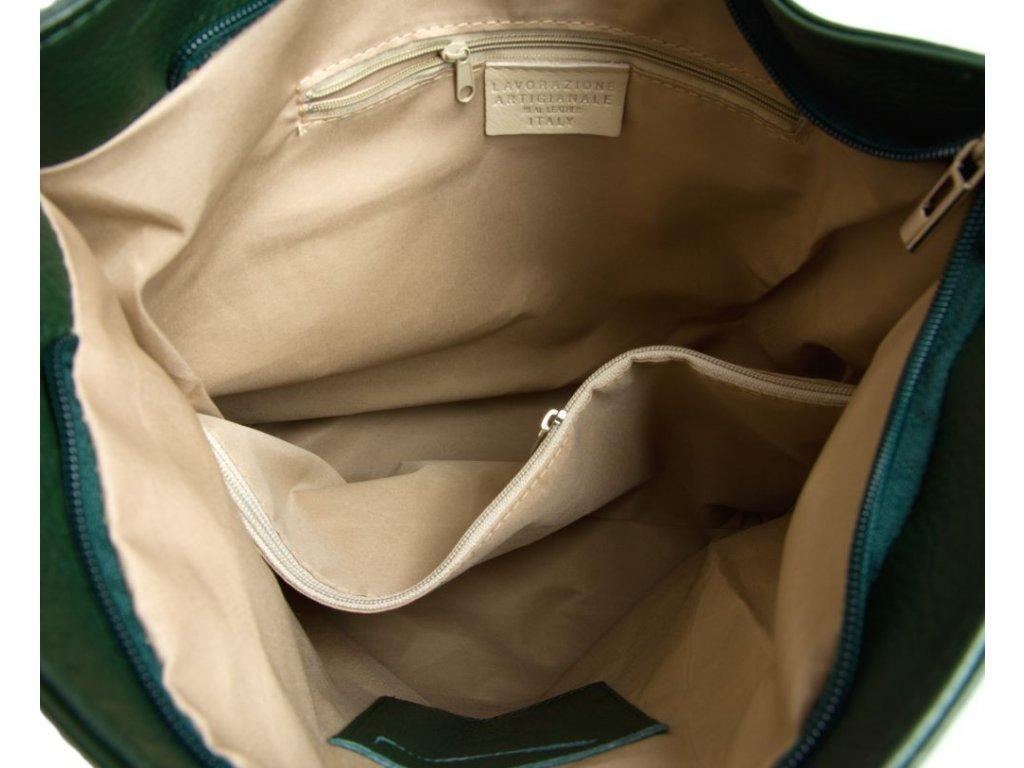 b820b2dd621 Kožená kabelka Elsa zelená - Blaire shop