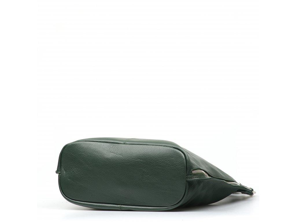 Kožená kabelka Elsa zelená