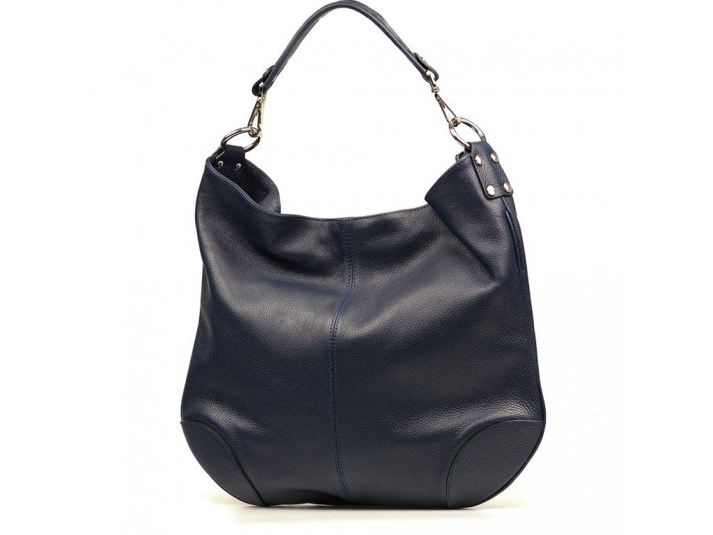 Kožená kabelka Fran tmavě modrá