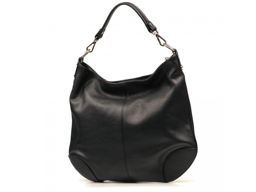 Kožená kabelka Fran černá