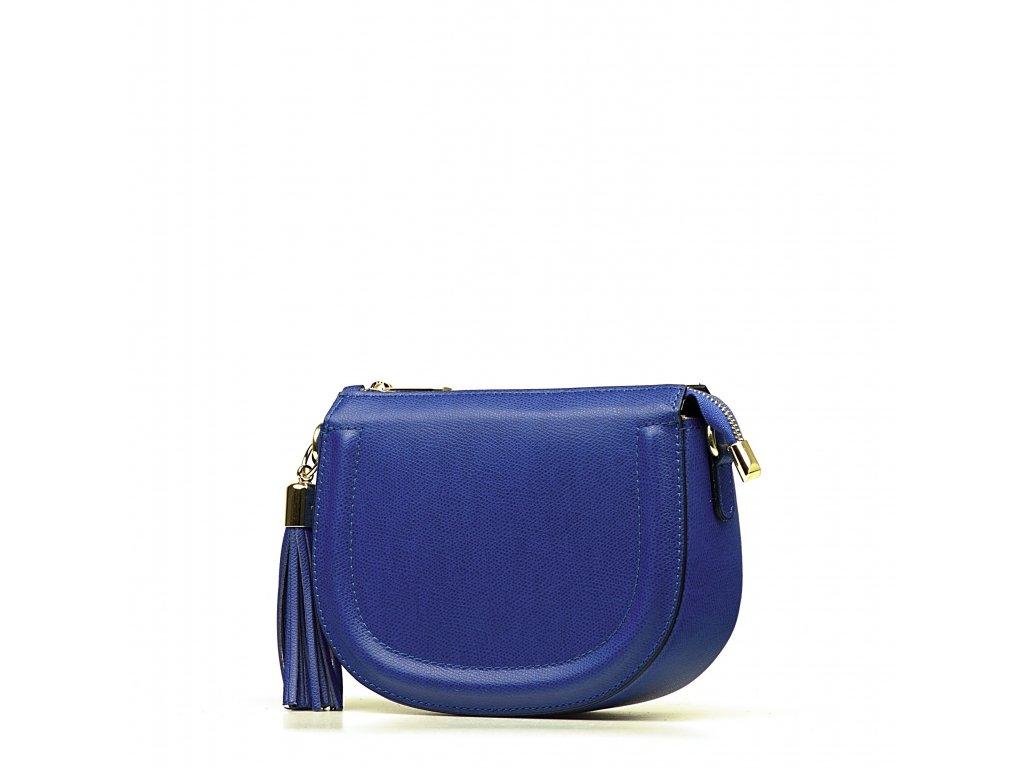 Kožená crossbody kabelka Elsie modrá