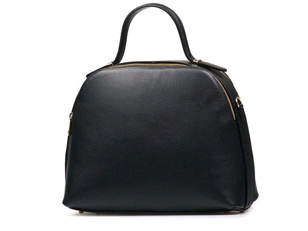 Kožená kabelka Malve černá
