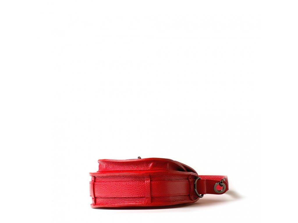 6011d69b5f Kožená kabelka Sara červená - Blaire shop