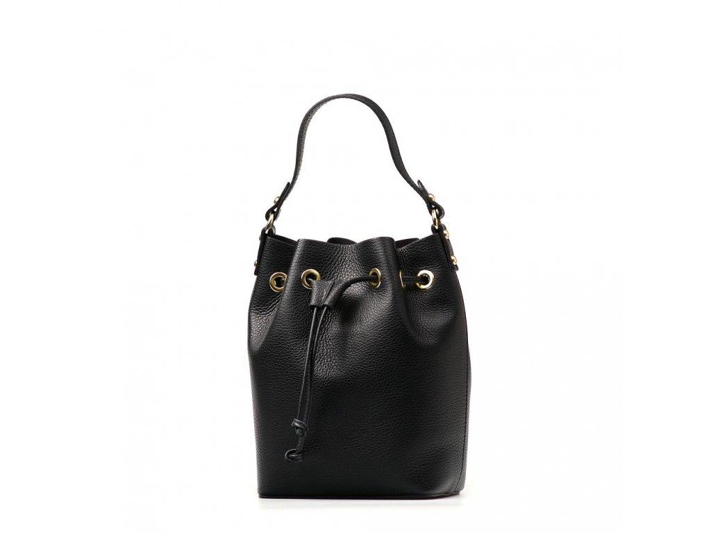 Kožená kabelka Lucilla černá