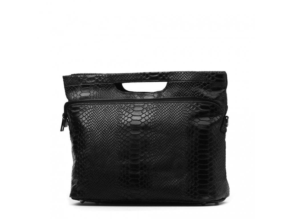 Kožená kabelka Maurine černá
