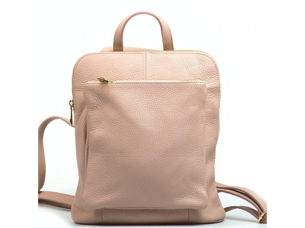 Kožený batůžek Tabby růžový
