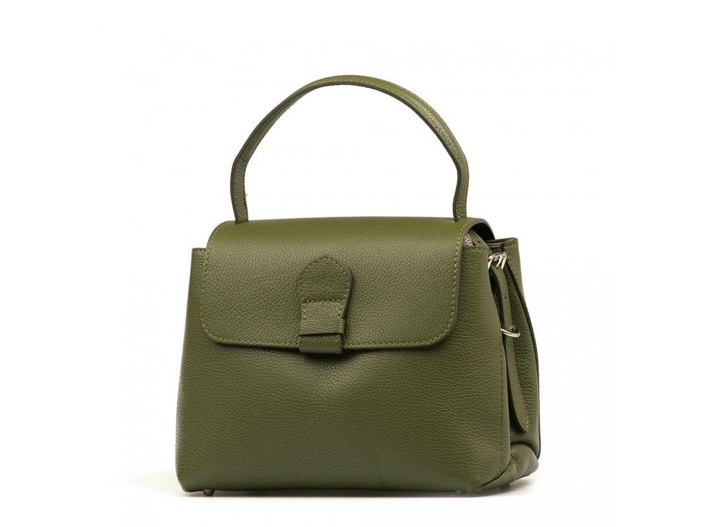 Kožená kabelka Mable zelená