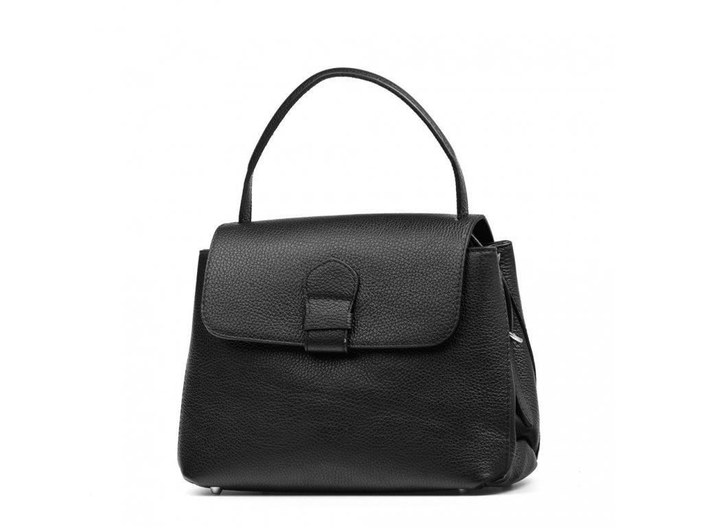 Kožená kabelka Mable černá