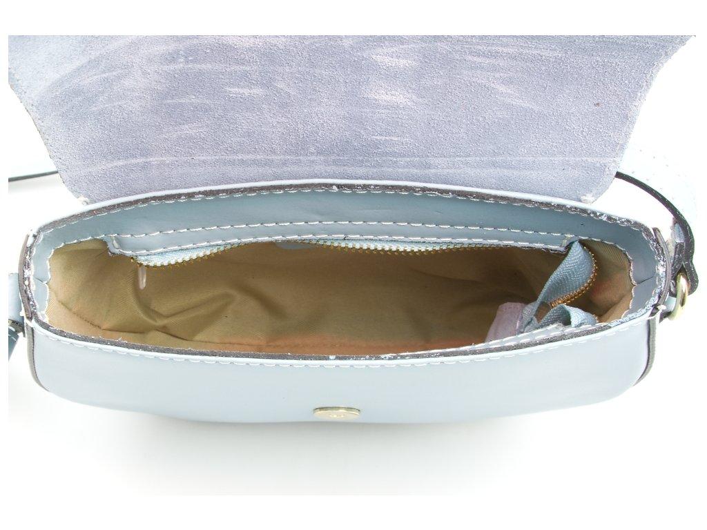 Kožená crossbody kabelka Annis modrá