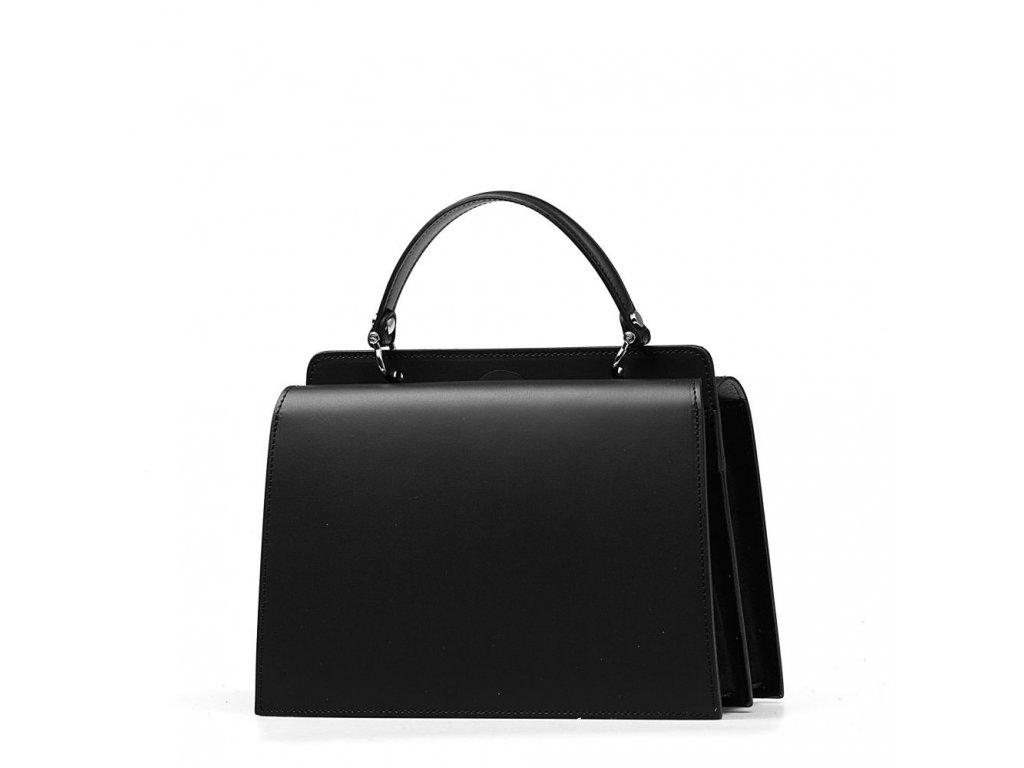 Kožená kabelka Luella černá