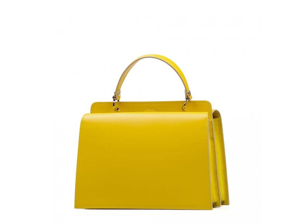 Kožená kabelka Luella žlutá