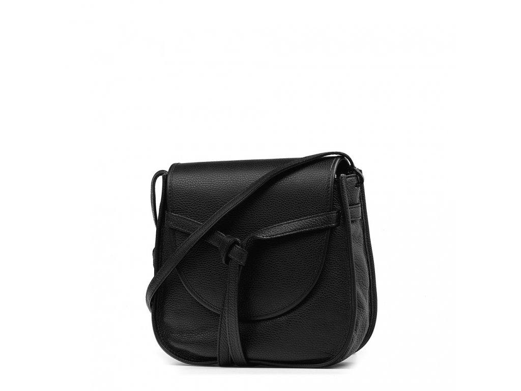 Kožená crossbody kabelka Daria černá