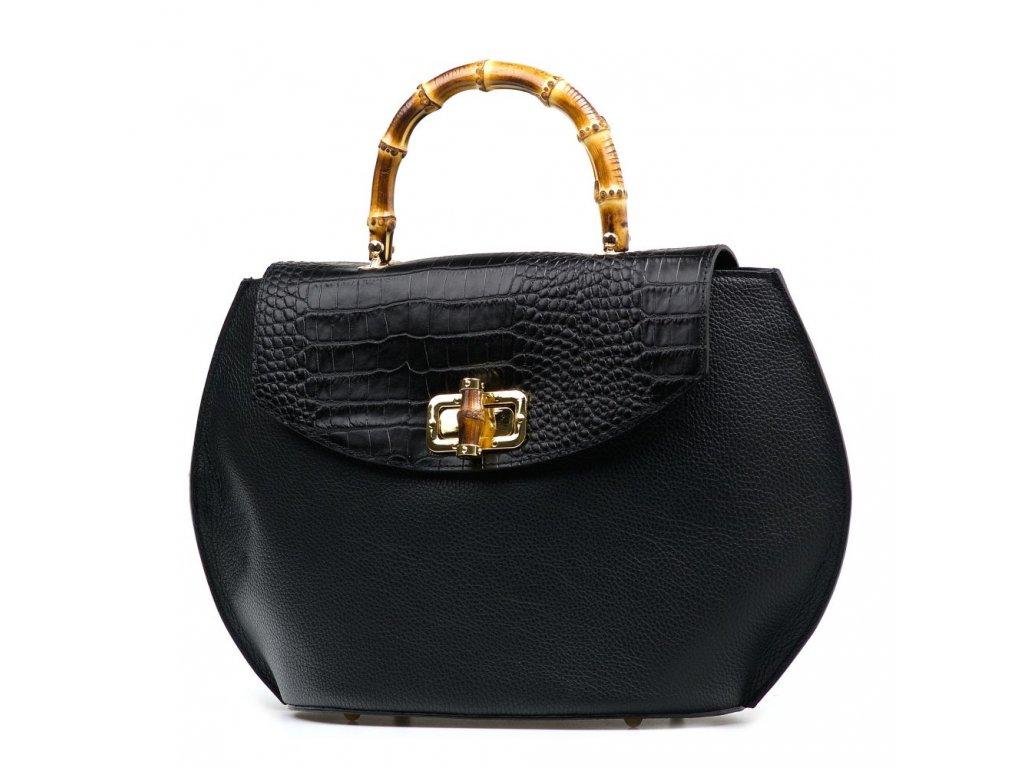Kožená kabelka Mimma černá
