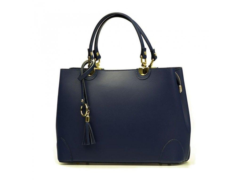Kožená kabelka Grazia modrá