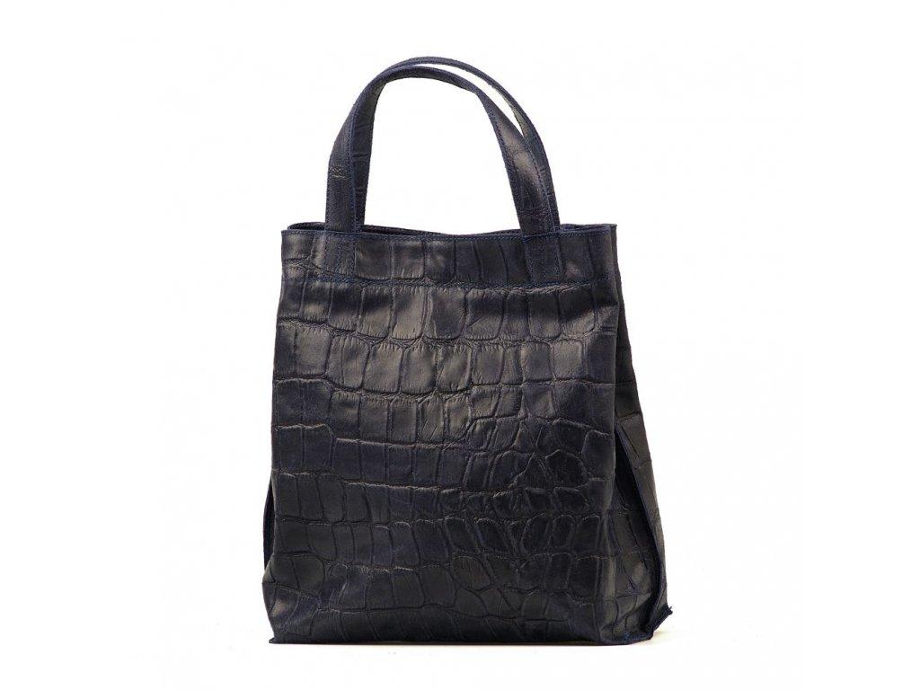 Kožená kabelka Renee tmavě modrá