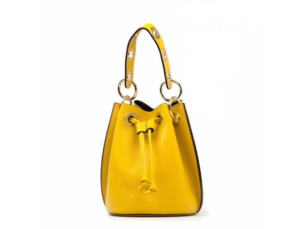 Kožená kabelka Elvira žlutá