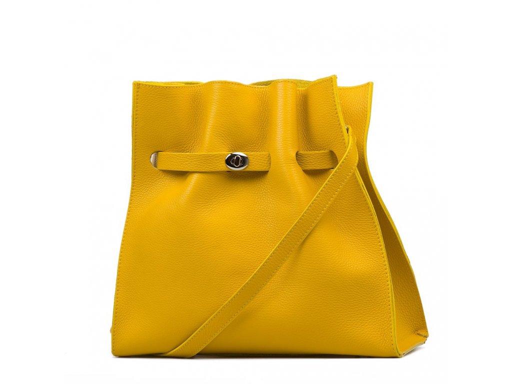 Kožená kabelka Miranda žlutá