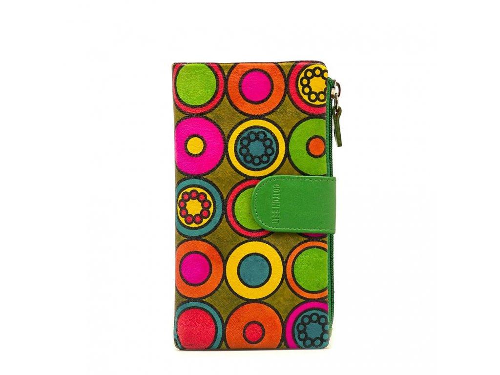 Kožená peněženka s motivem Noemi zelená