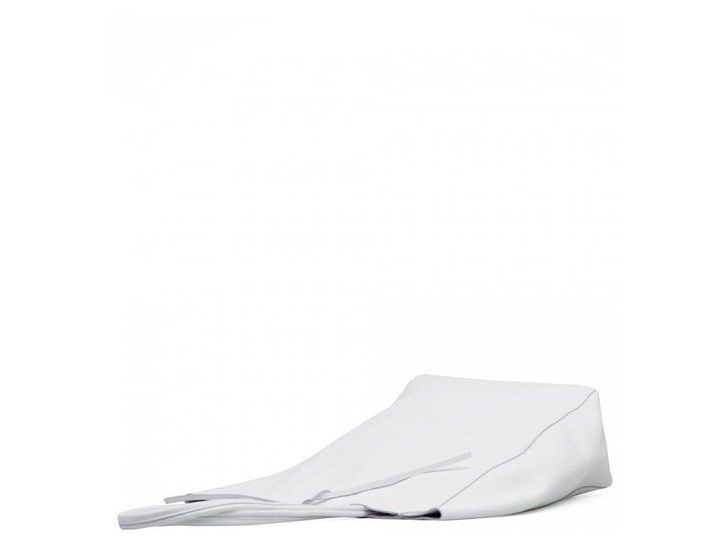 Kožená shopper kabelka Solange bílá