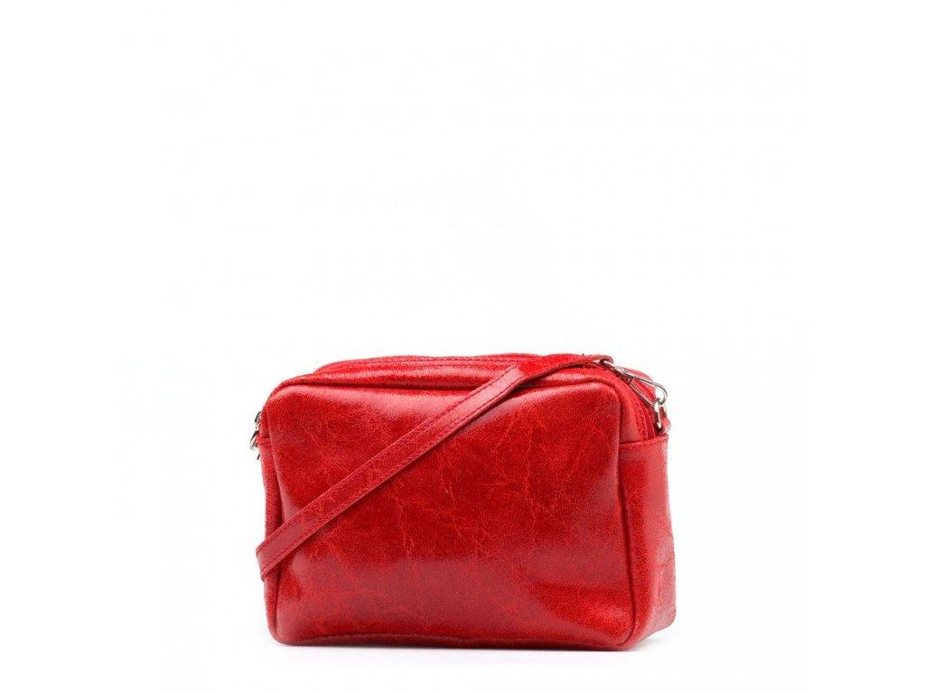 6101186112 Kožená kabelka Tosca červená - Blaire shop