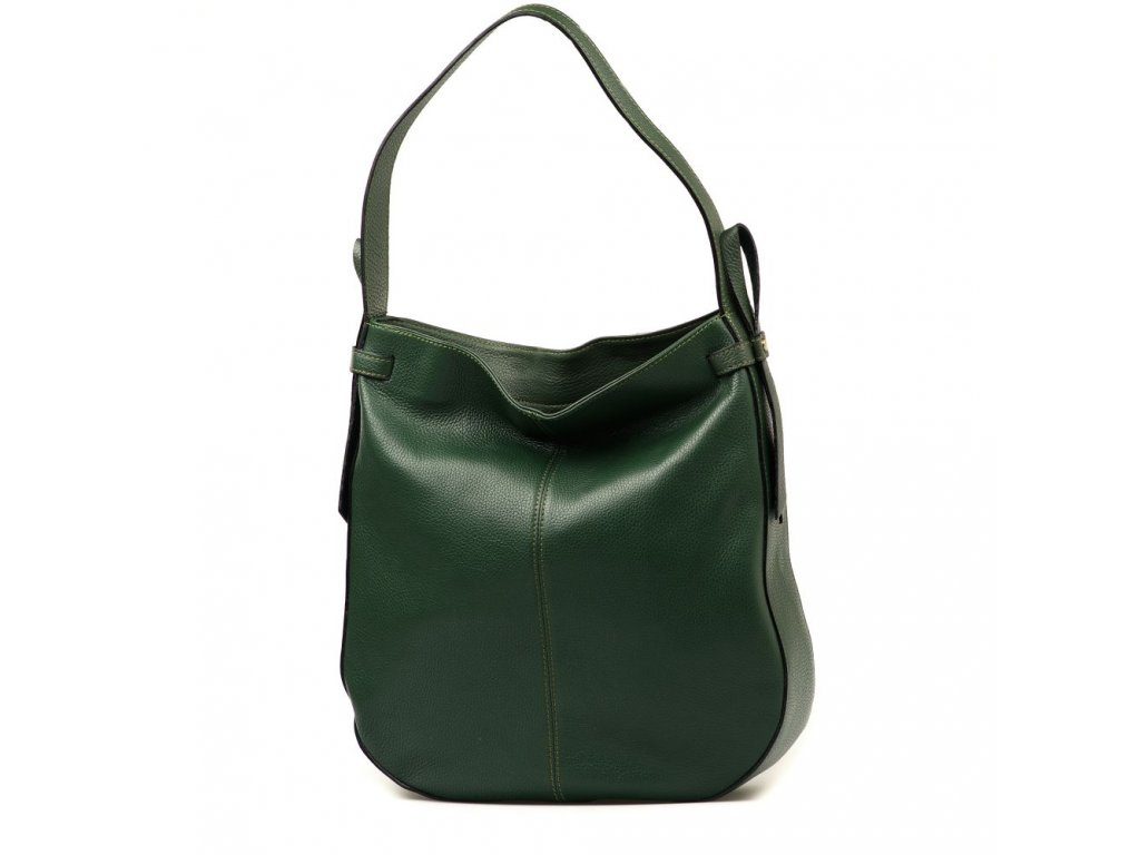 Kožená maxi kabelka Maila zelená