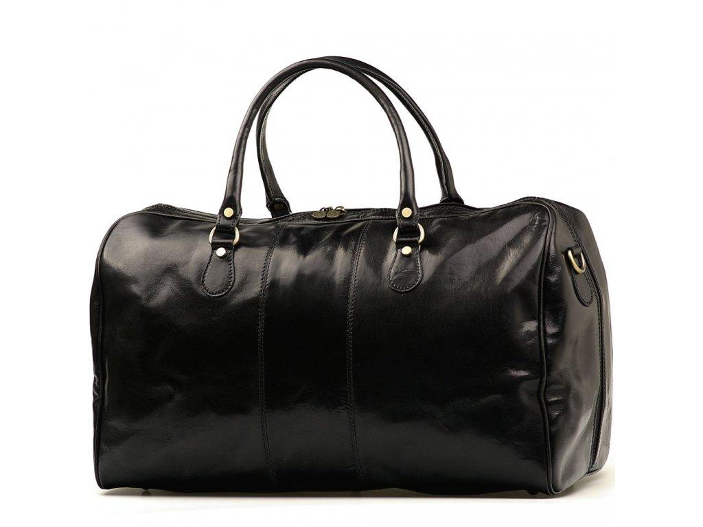 Kožená cestovní taška Josslyn černá
