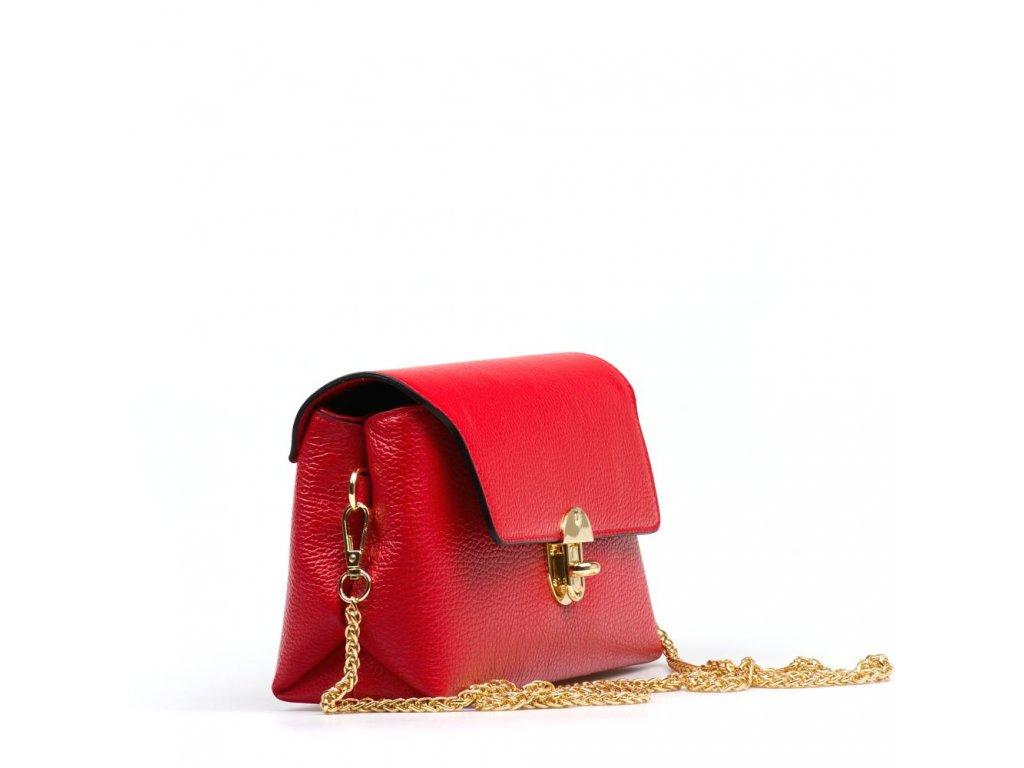 6b0ed6bc8e Kožená kabelka Tosca červená - Blaire shop
