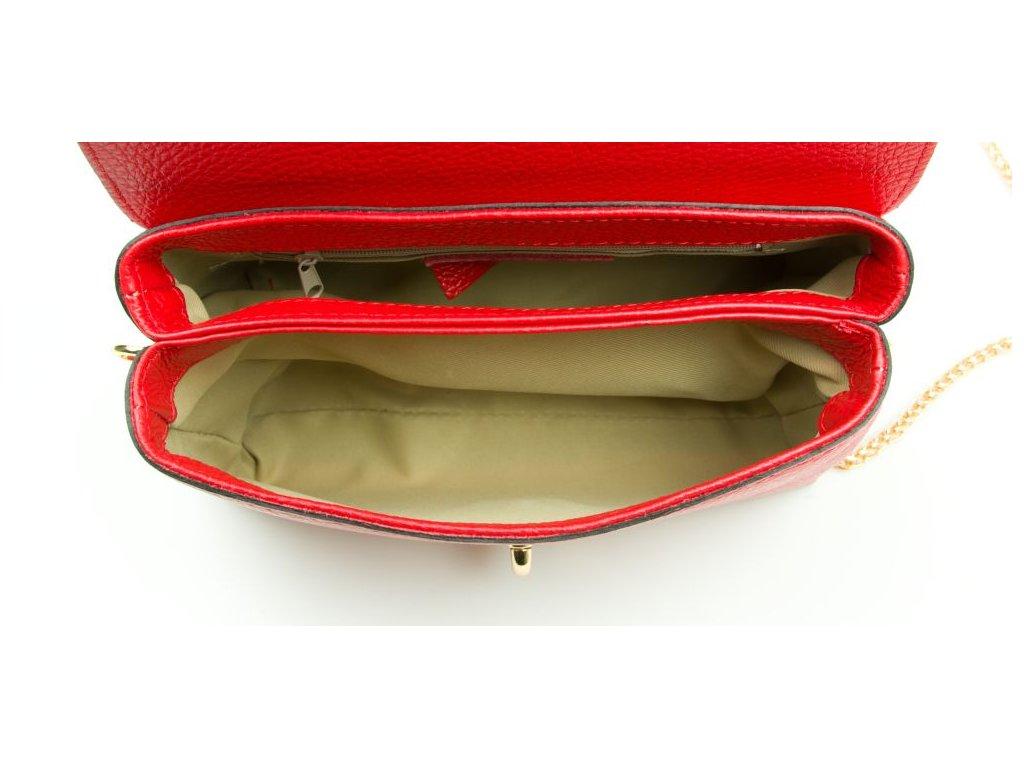 a9a9edfa66 ... Kožená kabelka Tosca červená · NHP 1723