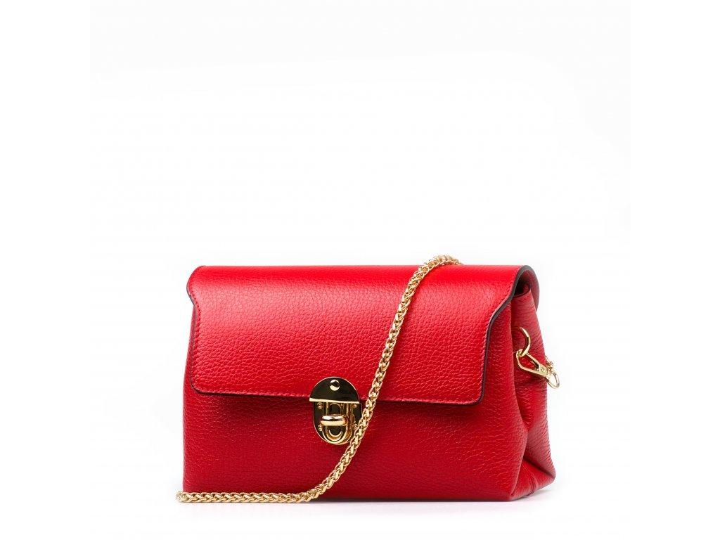 Kožená kabelka Tosca červená