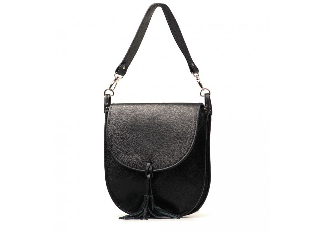 Kožená crossbody kabelka Elsbe černá