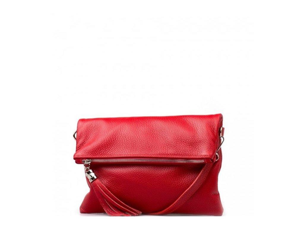Kožená crossbody kabelka Maura červená