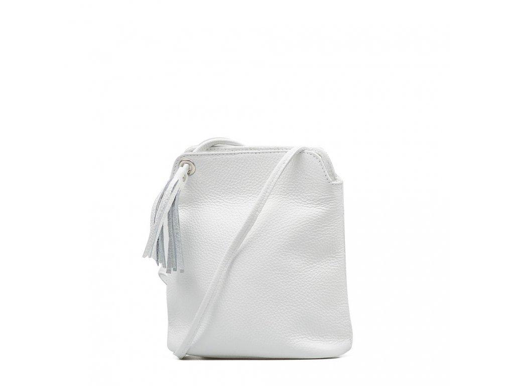 Kožená crossbody kabelka Nala bílá