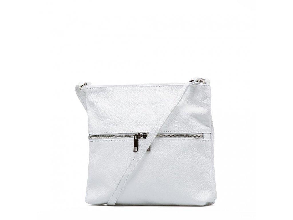 Kožená crossbody kabelka Enola bílá