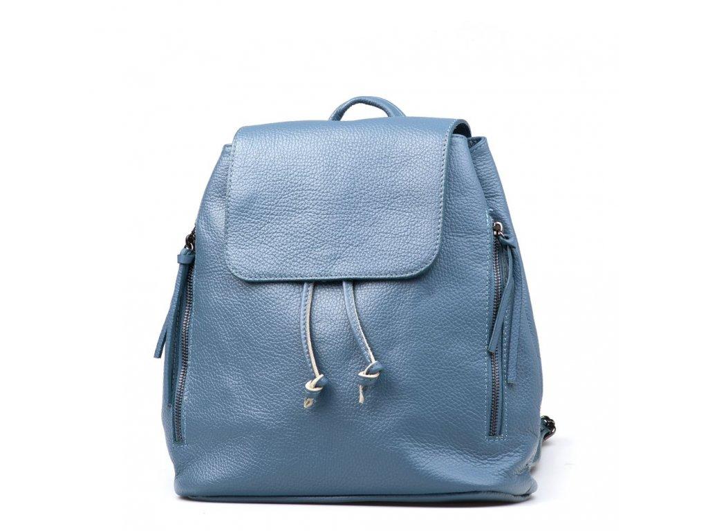 Kožený batůžek Tami  modrý