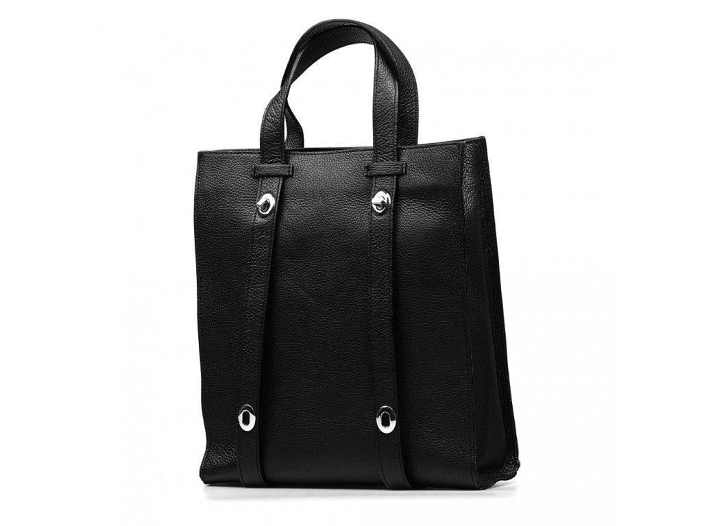 Kožená shopper kabelka Bonella černá